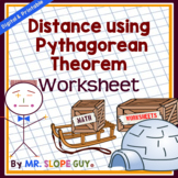 Pythagorean Theorem Activity (Finding Distance) Worksheet (Distance Learning)
