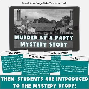 Pythagorean Theorem Activity! Murder Mystery!