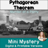 Pythagorean Theorem Activity! Murder Mystery! Includes Dig