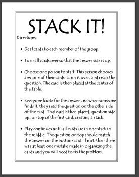 Pythagorean Theorem Activity - Stack It!