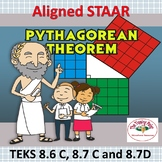 Pythagorean Theorem Aligned STAAR TEKS 8.6C, 8.7C and 8.7D
