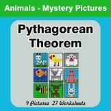Pythagorean Theorem - Animals Mystery Pictures / Color By Number