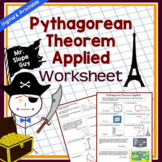 Pythagorean Theorem Activity Applied PDF Worksheet