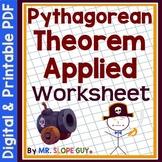 Pythagorean Theorem Activity Applied PDF Worksheet