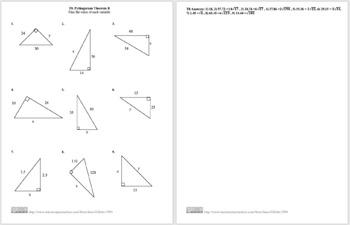 Pythagorean Theorem B