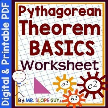 Pythagorean Theorem Activity Basics Geometry Worksheet by Mr Slope Guy