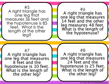 Pythagorean Theorem Bingo
