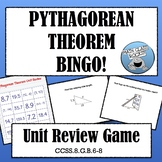 PYTHAGOREAN THEOREM BINGO!  (Distance & Midpoint Formulas, too!)