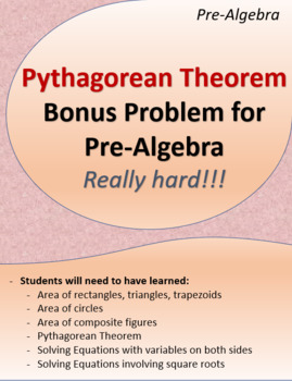 Pythagorean Theorem: Bonus Problem (Really hard!)