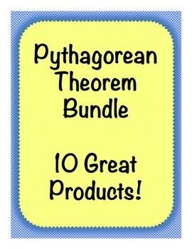 Pythagorean Theorem Bundle! 10 Great Products!!