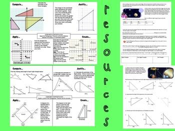 Pythagorean Theorem Bundle 8th Grade Math