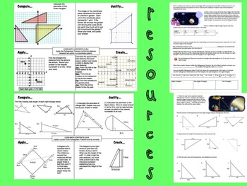 Pythagorean Theorem Bundle 8th Grade Math