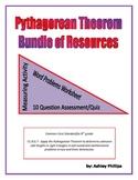 Pythagorean Theorem Bundle Activity, Word Problems & Quiz