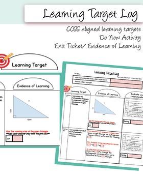 Pythagorean Theorem Bundle (+ Learning Target Log)