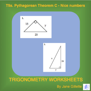 Pythagorean Theorem C– Nice numbers