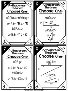 Pythagorean Theorem: Choose One