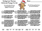 Pythagorean Theorem Christmas Math Activity: Message Decoder