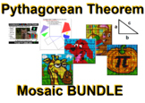 Pythagorean Theorem - Collaborative Mosaic BUNDLE