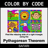 Pythagorean Theorem - Color by Code / Coloring Pages - Safari
