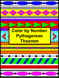 Pythagorean Theorem Color by Number Aztec (Distance Learning)
