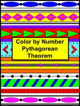 Pythagorean Theorem Color by Number Aztec