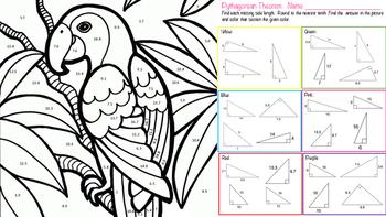 Pythagorean Theorem ~ Coloring Activity