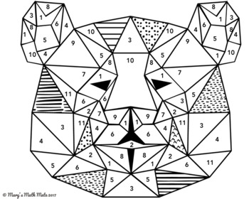 Pythagorean Theorem : Coloring Activity