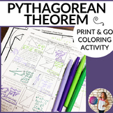 Pythagorean Theorem Coloring By Number