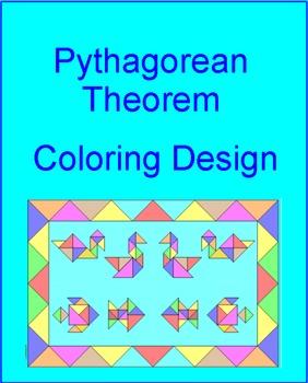 PYTHAGOREAN THEOREM:  COLORING ACTIVITY # 1