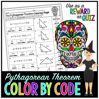 PYTHAGOREAN THEOREM MATH COLOR BY NUMBER, QUIZ