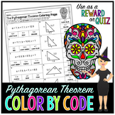 Pythagorean Theorem Math Color By Number or Quiz