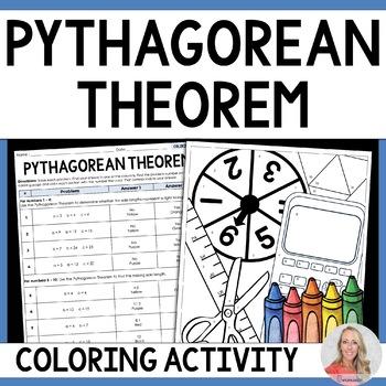 Pythagorean Theorem Coloring Activity