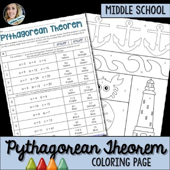Pythagorean Theorem Coloring Activity: 8.G.7