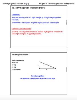 Pythagorean Theorem (Lesson Plan with Homework)
