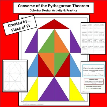 Pythagorean Theorem Converse Coloring Geometric Design Tes