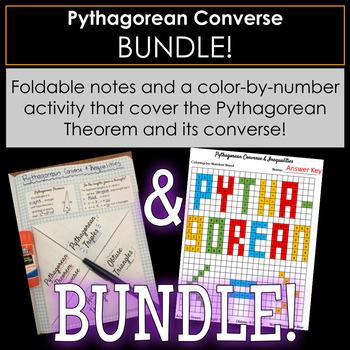 Pythagorean Theorem Converse Foldable and Activity BUNDLE