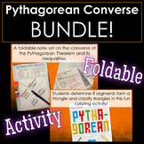 Pythagorean Theorem Converse Foldable and Activity BUNDLE