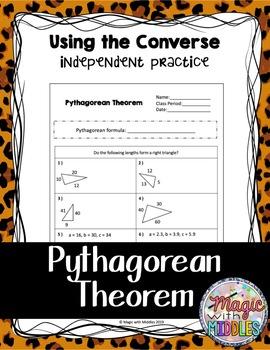 Pythagorean Theorem Converse Practice