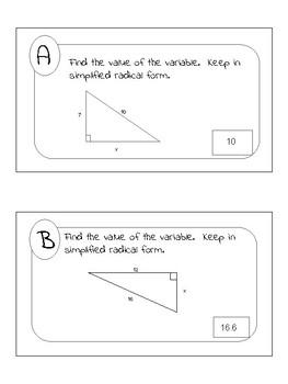Pythagorean Theorem & Converse Scavenger Hunt