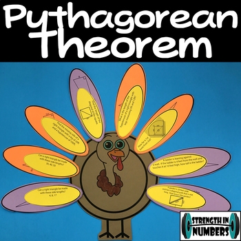 Pythagorean Theorem Cooperative Fall Thanksgiving Turkey Activity