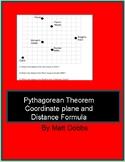 Pythagorean Theorem Coordinate Plane and Distance Formula