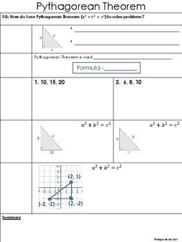 Pythagorean Theorem Cornell Notes