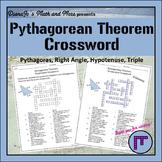 8th Grade Math Pythagorean Theorem Vocabulary Crossword