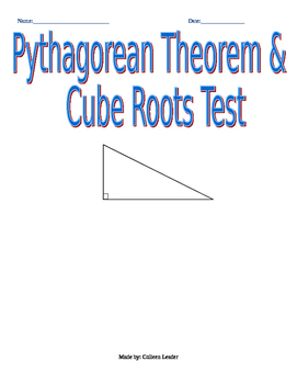 Pythagorean Theorem & Cube Root Test