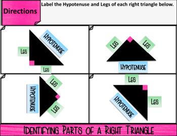 Pythagorean Theorem Digital Notes & Quiz (GOOGLE)