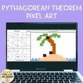 Pythagorean Theorem Digital Pixel Art