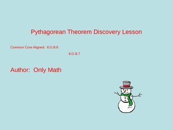 Pythagorean Theorem Discovery Lesson