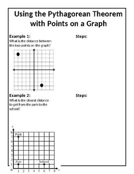 Pythagorean Theorem/Distance Formula Notes