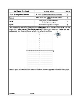 Pythagorean Theorem; Distance between two points formula option