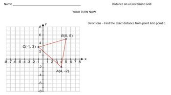 Pythagorean Theorem Distance Problems (Task Cards & Interactive Video Lesson!)